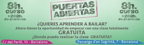 Clases de salsa y bachata de mayo a junio en el centro de Barcelona
