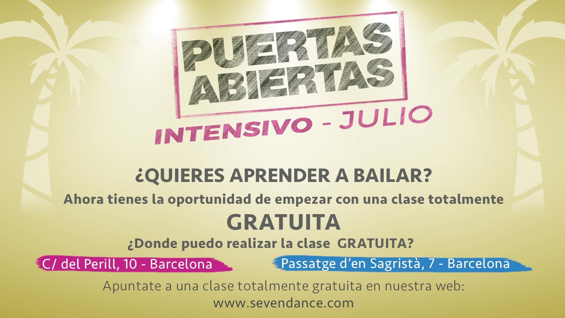 Curso Intensivo Julio de Salsa y Bachata