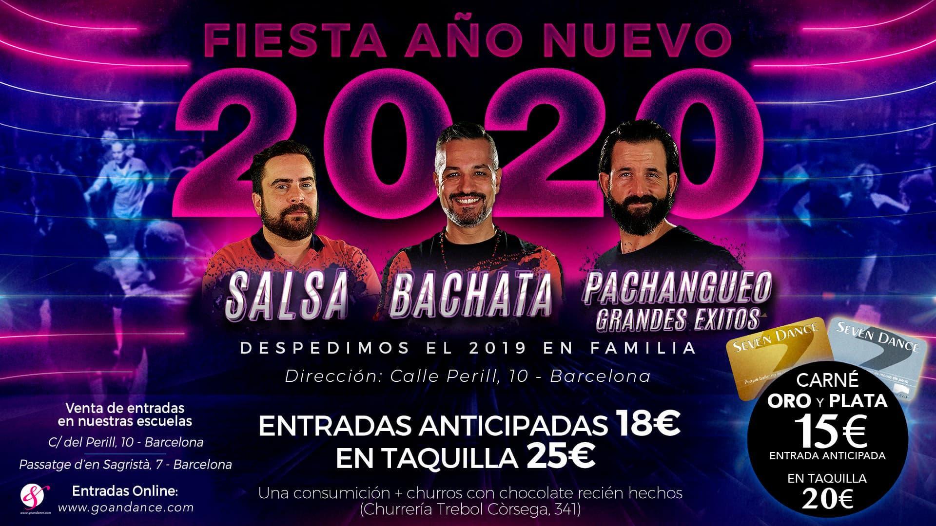 Fiesta Fin de Año 2019 y Año Nuevo 2020 en Seven Dance escuelas de baile