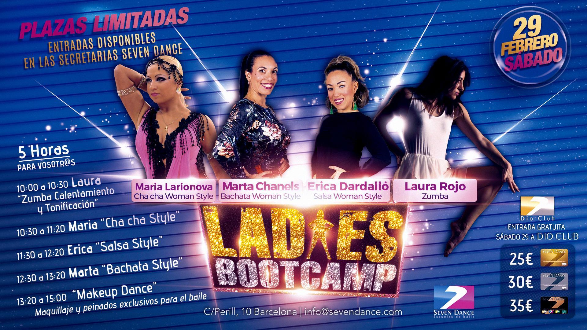 Ladies BootCamp 29 Febrero Seven Dance 2020