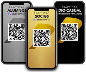 Aceso Seven App con QR a las instalaciones Seven Dance