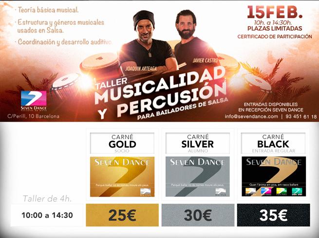 Taller de Musicalidad y Percusión. Joaquín Arteaga y Javier Castro