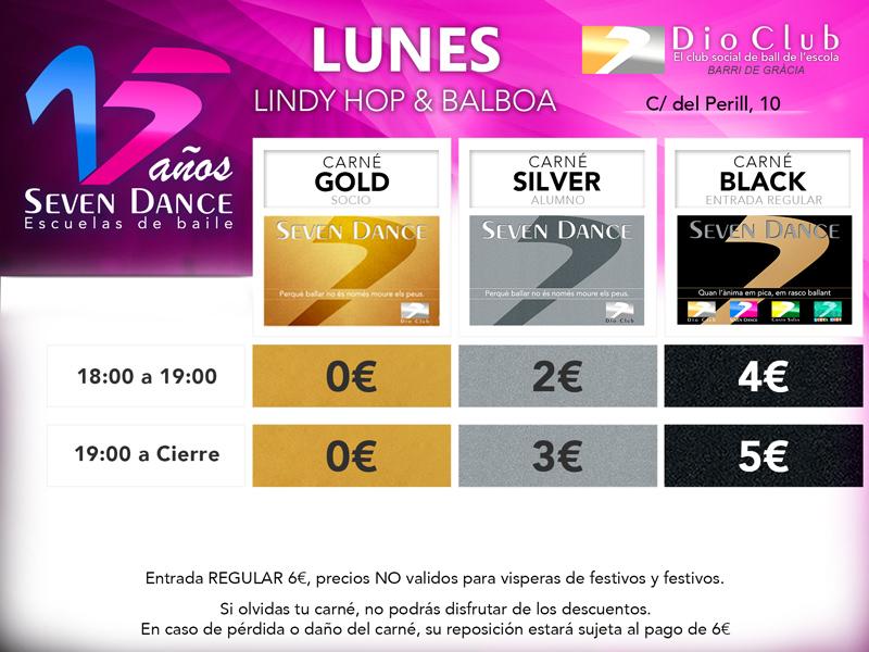 Escuela de LindyHop o Balboa Escuela de Baile Seven Dance Barcelona prácticas de Swing Dance
